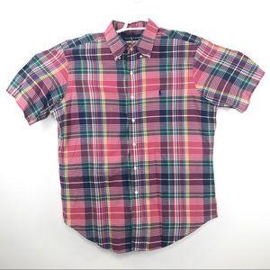 Ralph Lauren Men's Button Down Short Sleeve Sz XL